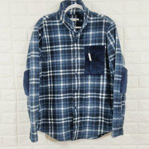 Threads & Thought Button Up Flannel Bomber Jacket